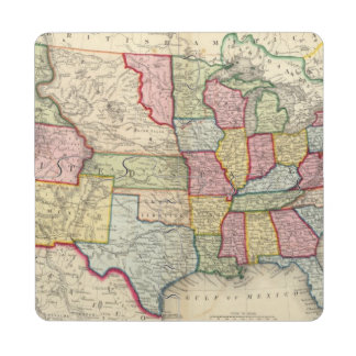 Map Of The United States, And Territories Puzzle Coaster