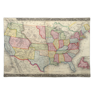 Map Of The United States, And Territories Placemats