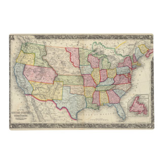 Map Of The United States, And Territories Placemat