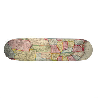Map Of The United States, And Territories Skateboard
