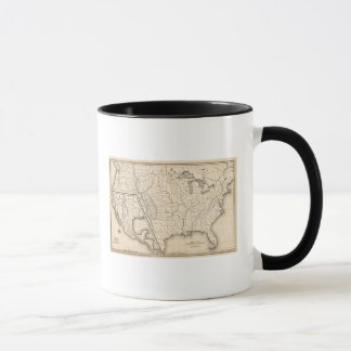 Map of the United States and Texas Mug