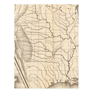 Map of the United States and Texas Postcard