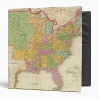 Map of The United States Vinyl Binders