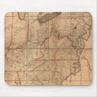Map of the United States By Abraham Bradley Junior Mouse Pad