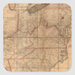 Map of the United States By Abraham Bradley Junior Stickers