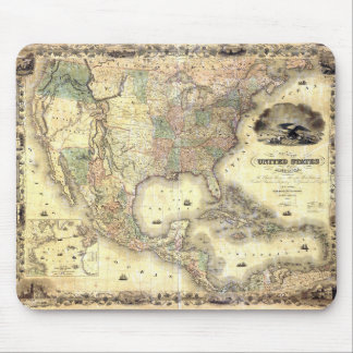 Map of the United States by J.H. Colton (1849) Mouse Pad