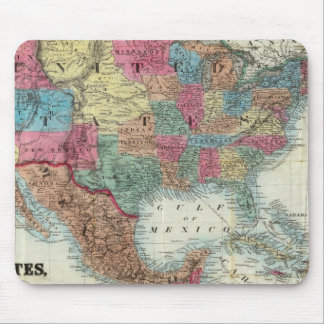 Map Of The United States, Canada, Mexico Mouse Pad