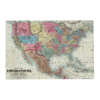 Map Of The United States, Canada, Mexico Placemat
