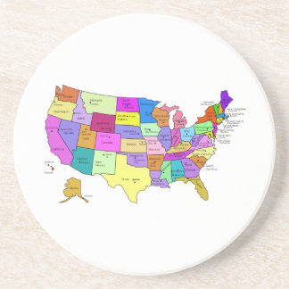 Map of the United States Beverage Coasters