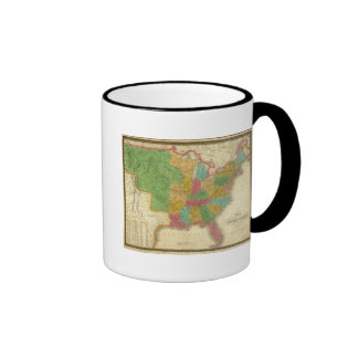 Map of the United States Coffee Mugs
