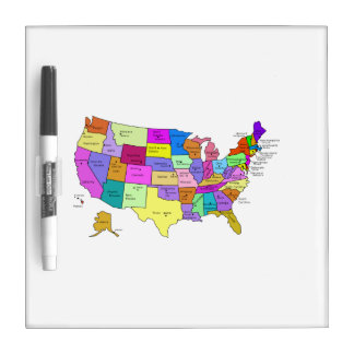 United States Map Dry Erase Boards Zazzle - Us map dry erase