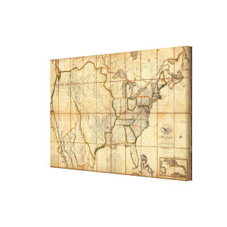 Map of the United States Gallery Wrapped Canvas