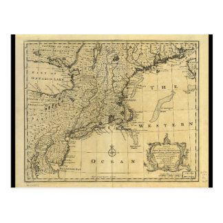 Map of the United States of America (1783) Postcard