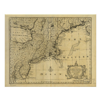 Map of the United States of America (1783) Poster