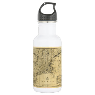 Map of the United States of America (1783) Stainless Steel Water Bottle