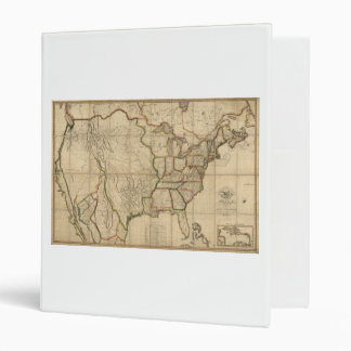 Map of the United States of America (1816) 3 Ring Binder