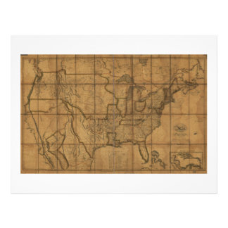 Map of the United States of America (1819) Letterhead
