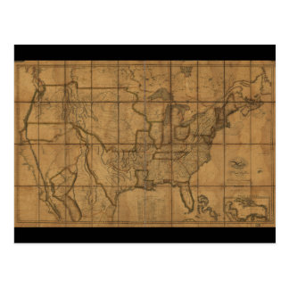 Map of the United States of America (1819) Postcard