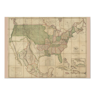 Map of the United States of America (1820) Card