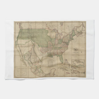 United States Map Kitchen Towels Zazzle Us Map 1820