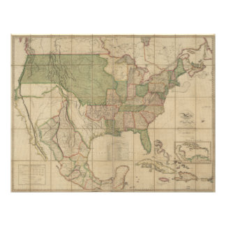 Map of the United States of America (1820) Letterhead