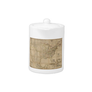 Map of the United States of America (1823) Teapot