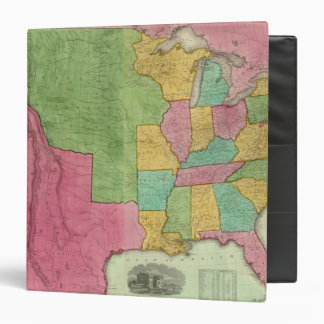 Map Of The United States Of America 1833 Binder