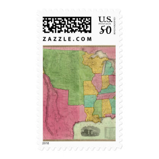 Map Of The United States Of America 1833 Postage
