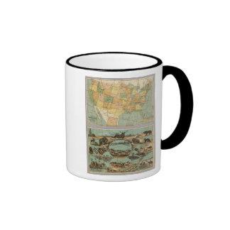 Map of the United States of America 2 Coffee Mug