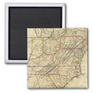 Map of the United States of America 2 Inch Square Magnet