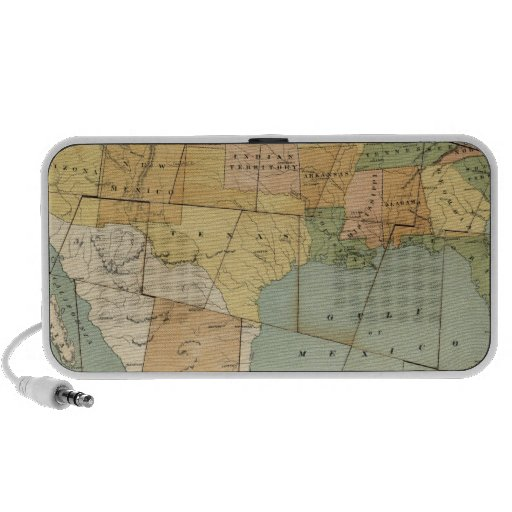 Map of the United States of America 2 iPod Speaker