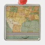 Map of the United States of America 2 Ornament