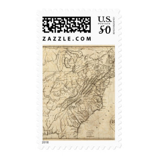 Map of the United States of America 2 Postage