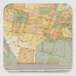 Map of the United States of America 2 Square Sticker