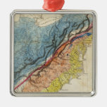 Map of the United States of America 3 Metal Ornament