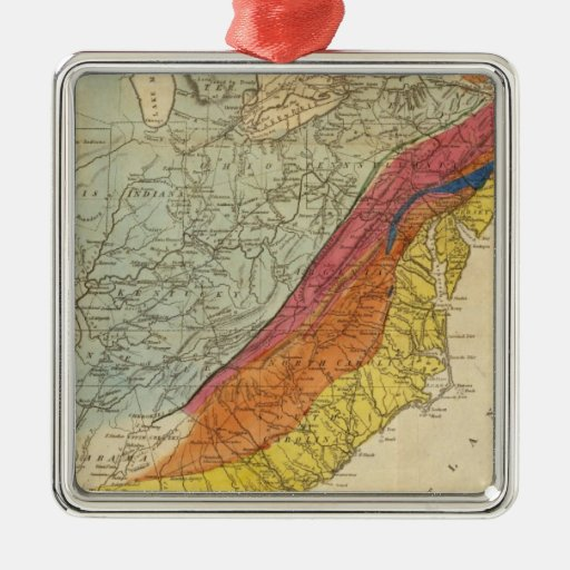 Map of the United States of America 4 Christmas Ornament