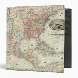 Map Of The United States Of America Binder