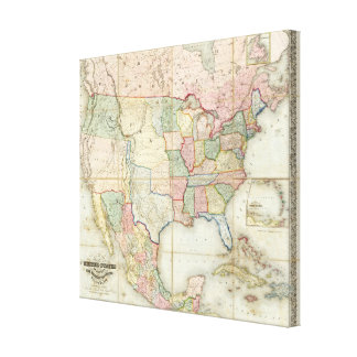 Map of The United States of America Gallery Wrapped Canvas