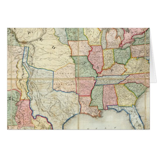 Map of The United States of America Card