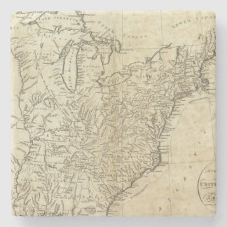 Map of the United States of America Stone Beverage Coaster