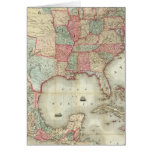 Map Of The United States Of America Greeting Card