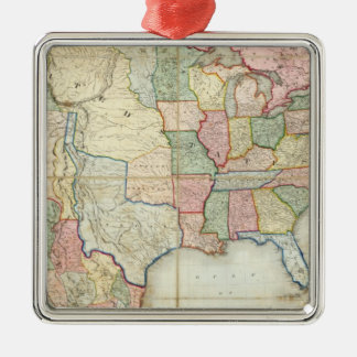 Map of The United States of America Metal Ornament