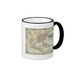 Map Of The United States Of America Ringer Coffee Mug