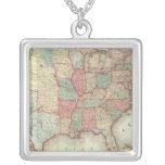 Map Of The United States Of America Custom Necklace