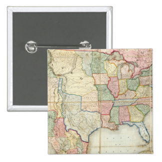 Map of The United States of America Pinback Button