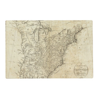 Map of the United States of America Placemat