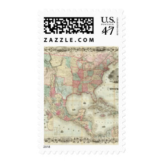 Map Of The United States Of America Postage