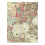 Map Of The United States Of America Postcard