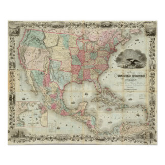 Map Of The United States Of America Print