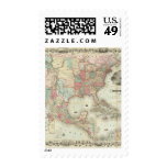 Map Of The United States Of America Stamp